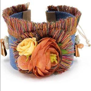 Jewelry - Boho Mixed Media Multicolor Tassel Cuff Bracelet